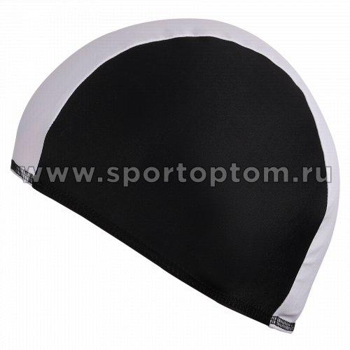 Шапочка для плавания  ткань LUCRA SM комбинированная SM-088 Бело-черный