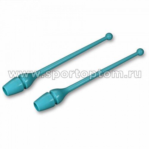 Булавы для художественной гимнастики INDIGO (термопластик) SM-352 36 см Бирюзовый