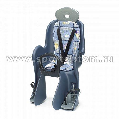 Вело Кресло детское (крепление  на задний багажник)   801 -YC                   Сине-серый