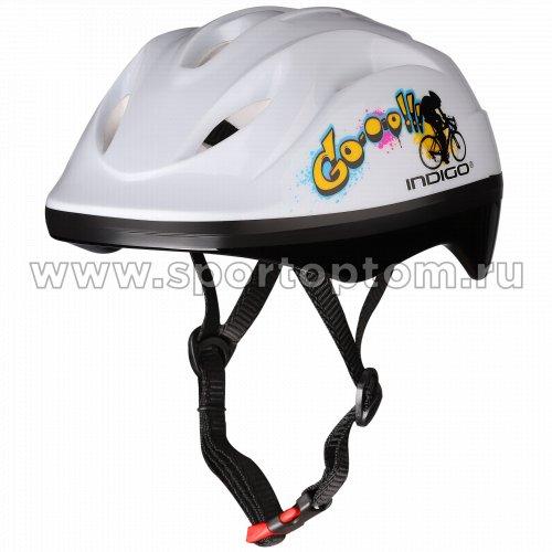 Шлем велосипедный детский INDIGO GO 8 вентиляционных отверстий IN071  Белый