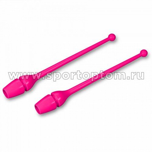 Булавы для художественной гимнастики INDIGO (термопластик) SM-352 36 см Цикламеновый