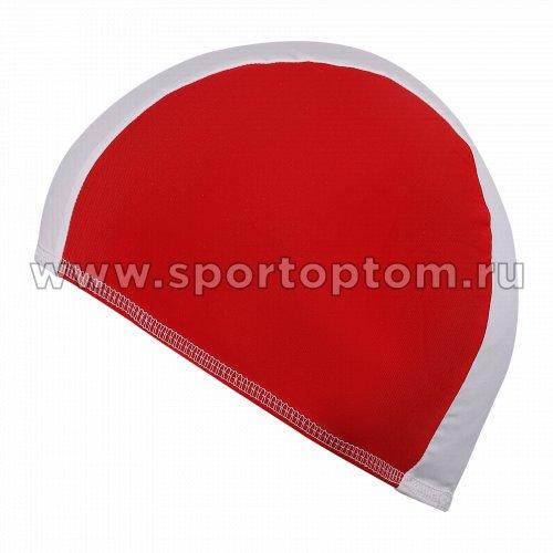 Шапочка для плавания  ткань LUCRA SM комбинированная SM-088 Бело-красный