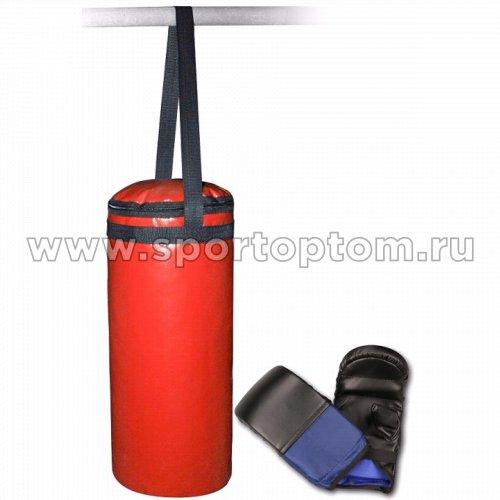 Мешок боксерский + перчатки SM-110 6 кг Красный