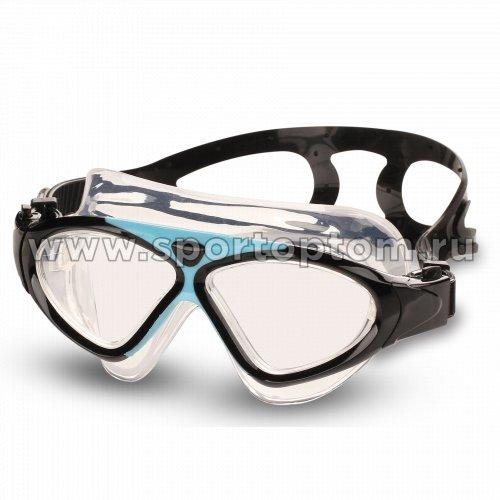Очки для плавания (полумаска) детские INDIGO APRION  9210-7 Черно-голубой
