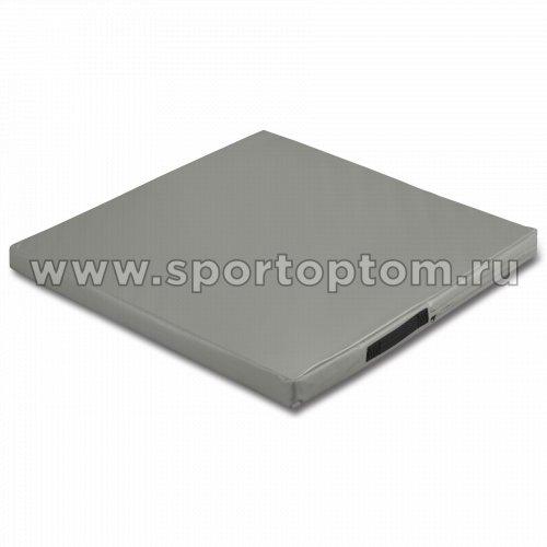 Мат гимнастический SM SM-107 1*1*0.08 м  Серый металлик