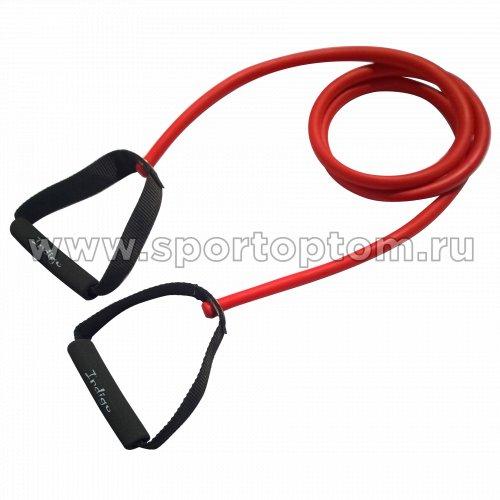 Эспандер для степа LATEX INDIGO MEDIUM 1 жгут SM-067 130 см Красный