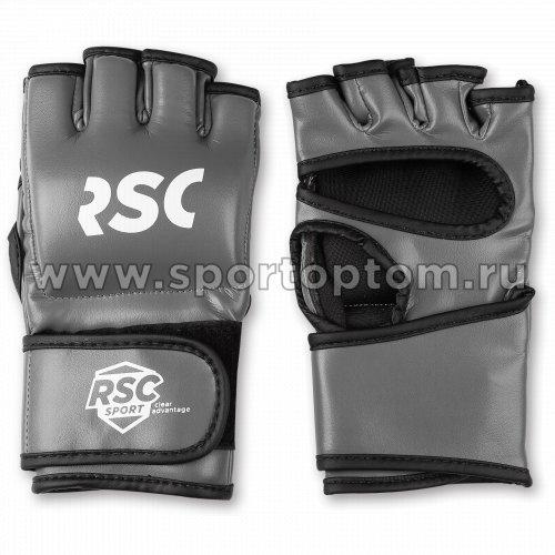 Перчатки ММА RSC PU  SB-03-330 Серо-черный