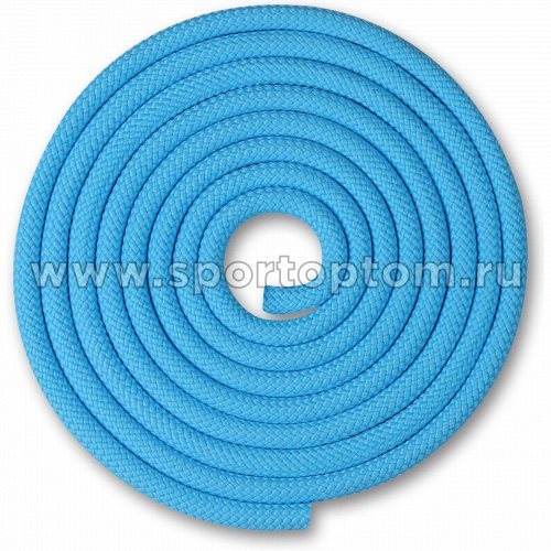 Скакалка для художественной гимнастики Утяжеленная 180 г INDIGO SM-123 3 м Голубой