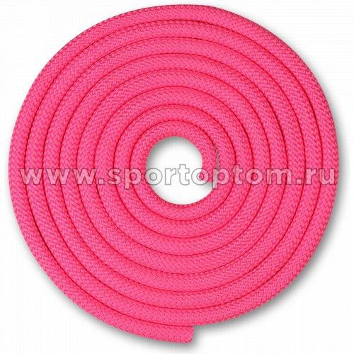 Скакалка для художественной гимнастики Утяжеленная 150 г INDIGO SM-121 2,5 м Розовый
