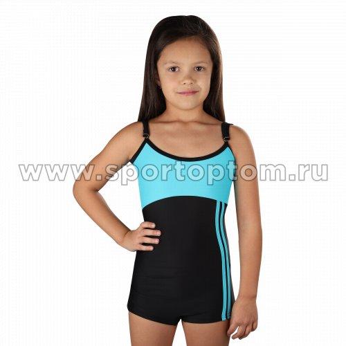 Купальник для плавания детский совместный с шортами 4973