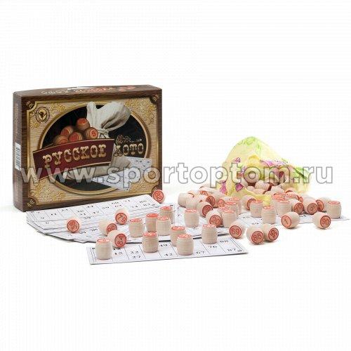 Русское лото в коробке (деревянные бочонки) 052-11 25*19*6см Коричневый