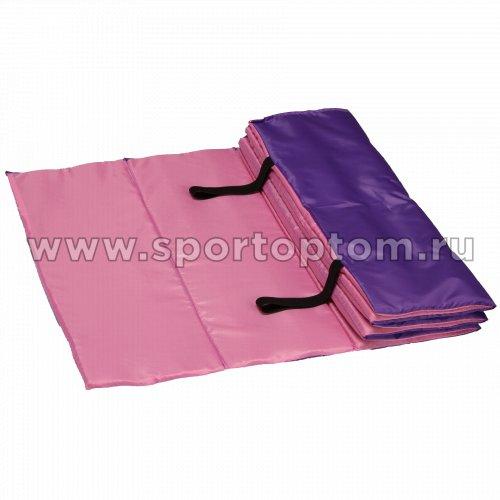 Коврик гимнастический взрослый INDIGO SM-042 180*60 см Розово-фиолетовый