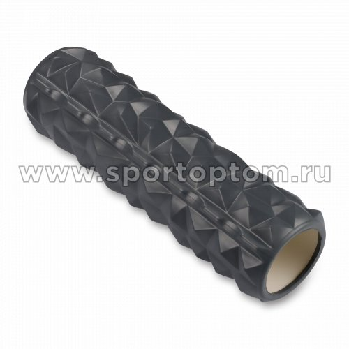 Ролик массажный для йоги INDIGO PVC IN278 45*14 см Серый