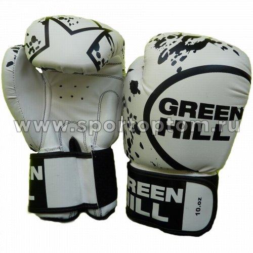 Перчатки боксёрские Green Hill STAR PU FX  BGS-2219 12 унций Белый
