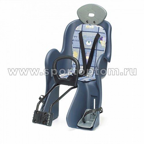 Вело Кресло детское (крепление на раму)  YC-800 Сине-серый