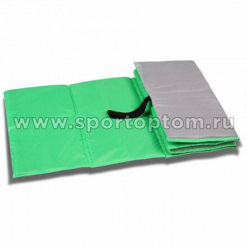 Коврик гимнастический детский INDIGO SM-043 150*50 см Салатово-серый