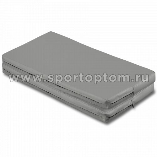 Мат гимнастический складной SM SM-108 1*1*0.08 м  Серый металлик