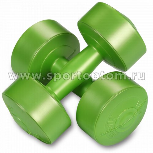 Гантели виниловые  EK-212 2,0кг*2шт Зеленый