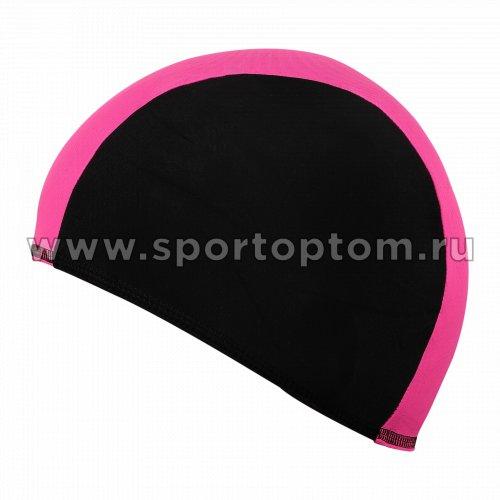 Шапочка для плавания  ткань LUCRA SM комбинированная SM-089  Черно-розовый