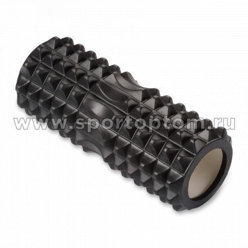 Ролик массажный для йоги INDIGO PVC IN267 33*14 см Черный