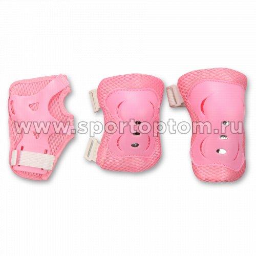 Защита роликовая  тройная детская FB-HD                     XS Розовый