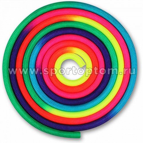 Скакалка для художественной гимнастики утяжеленная семицветная  INDIGO 165 г IN038 3 м Радуга