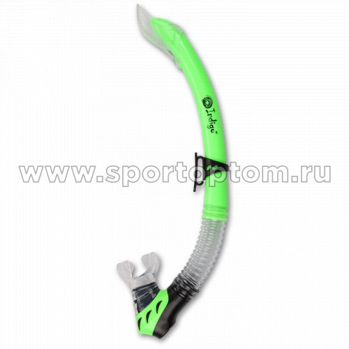 Трубка для плавания  INDIGO детская (ПВХ, маскодержатель) IN065 Зеленый