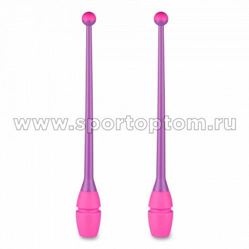 Булавы для художественной гимнастики вставляющиеся INDIGO IN017 36 см Фиолетово-розовый