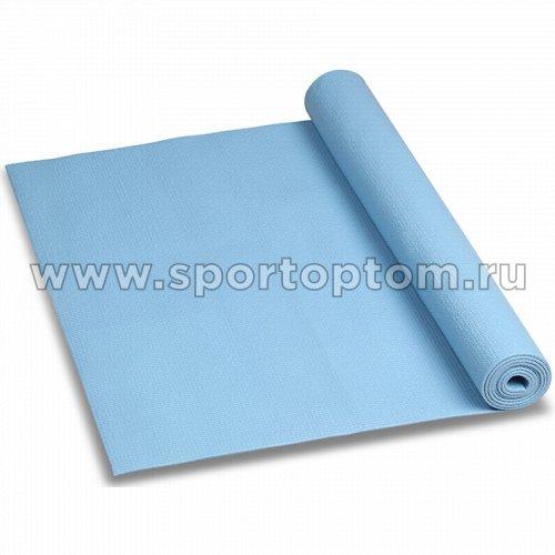 Коврик для йоги и фитнеса INDIGO PVC YG03 173*61*0,3 см Голубой