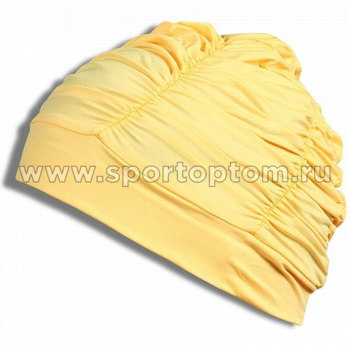 Шапочка для плавания  ткань LUCRA SM женская  с драпировкой SM-092 Желтый