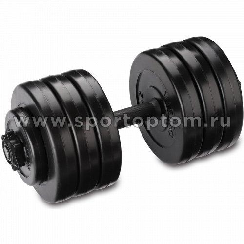 Гантель наборная пластиковые диски INDIGO IN046 16.5 кг Черный