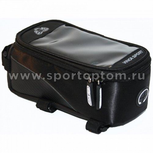 Вело Сумка на раму с отделением для телефона  FB-07-2 L 195*100*100мм Черный