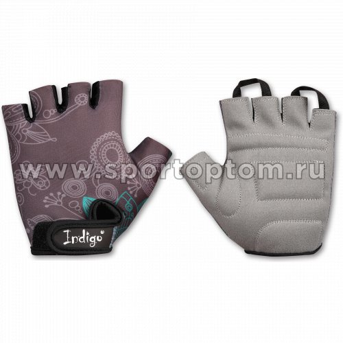 Перчатки вело женские INDIGO  SB-01-8545 Светло-серый