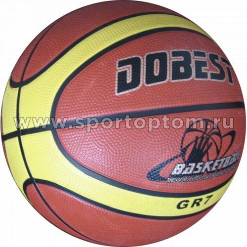 Мяч баскетбольный №7 DOBEST (резина) 896 Y-7RB Оранжевый