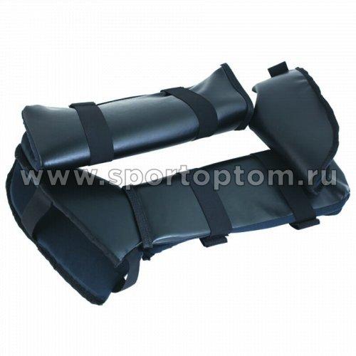 Защита голени и стопы с футой SM  SM-037 Черный