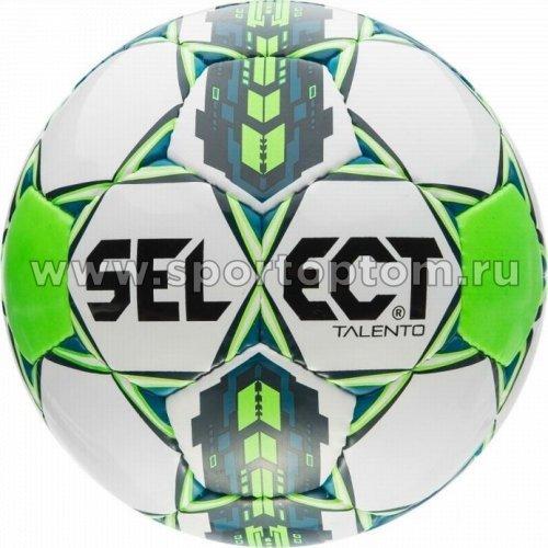 Мяч футбольный №4 SELECT TALENTO 2015 тренировочный (PU) 811006 Бело-салатовый