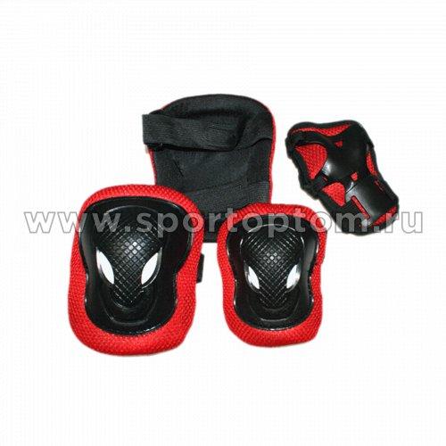 Защита роликовая тройная детская FB-ML M Красный