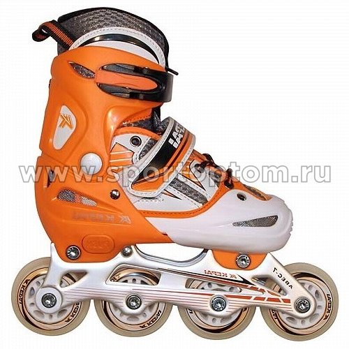 Роликовые коньки раздвижные  F1-V2 Оранжево-белый