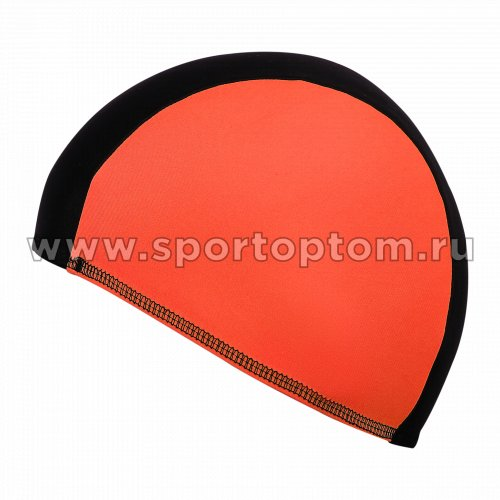Шапочка для плавания  ткань LUCRA SM комбинированная SM-089 Черно-оранжевый