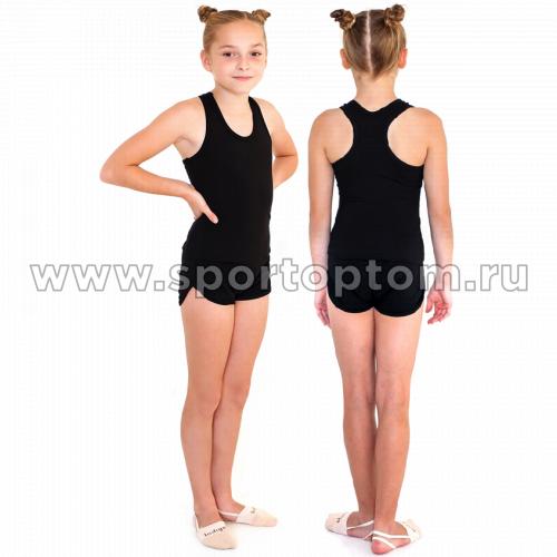 Шорты гимнастические  детские  INDIGO c окантовкой SM-196 Черный