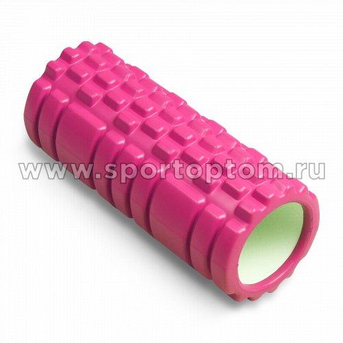 Ролик массажный для йоги INDIGO PVC  IN077 33*14 см Розовый