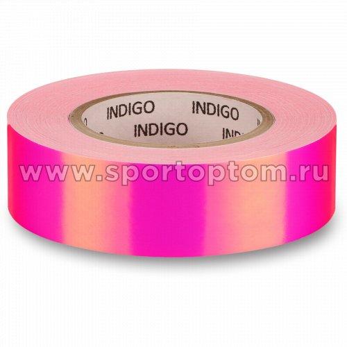 Обмотка для обруча с подкладкой INDIGO зеркальная RAINBOW IN151 20мм*14м Розово-фиолетовый