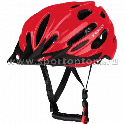 Шлем велосипедный взрослый INDIGO 22 вентиляционных отверстий IN070 55-61см Красный