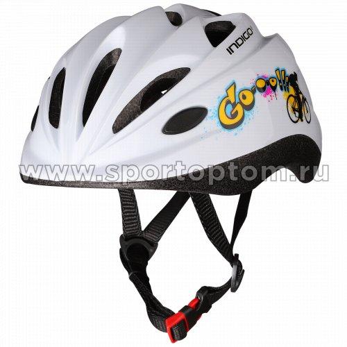 Шлем велосипедный детский INDIGO  GO 10 вентиляционных отверстий IN072 48-56см Белый