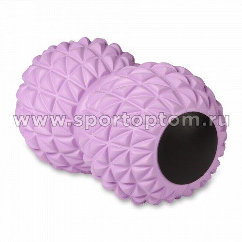 Мячик массажный двойной для йоги INDIGO IN269 18*10 см Сиреневый