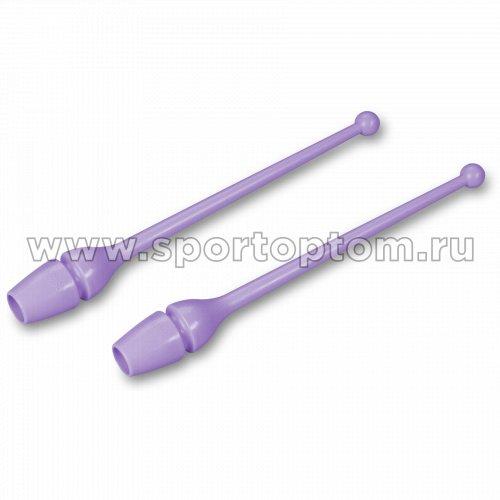 Булавы для художественной гимнастики INDIGO (термопластик) SM-352 36 см Сиреневый