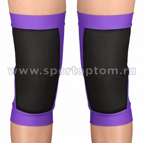 Наколенник для гимнастики и танцев Сетка INDIGO SANDRA удлинённый усиленный  SM-378 L Фиолетовый