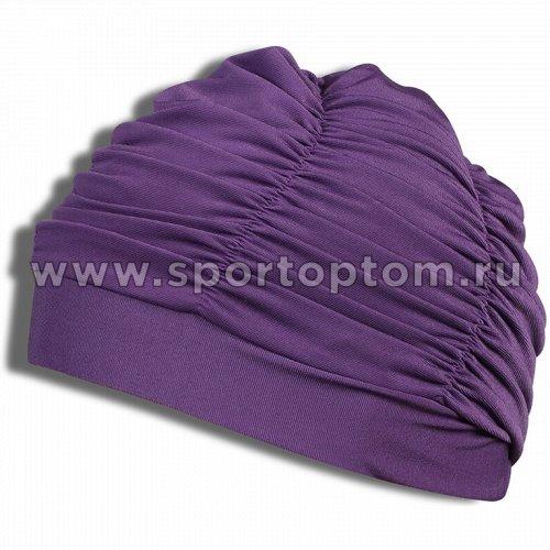 Шапочка для плавания  ткань LUCRA SM женская  с драпировкой SM-092 Фиолетовый