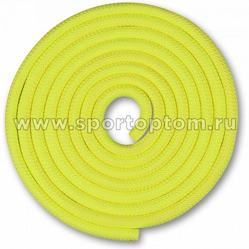 Скакалка для художественной гимнастики Утяжеленная 150 г INDIGO SM-121 2.5 м Лимонный