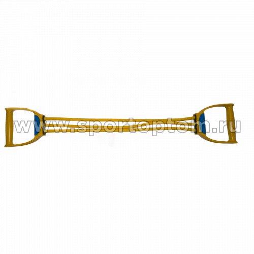 Эспандер плечевой LATEX INDIGO LIGHT (6-18 кг) 3 жгута SM-073 70 см Желтый